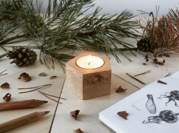 English oak modern geometric wooden candle holder by KCRMcrafts >https://www.etsy.com/shop/KCRMcrafts<