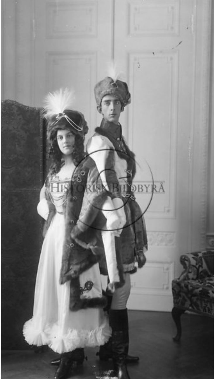Grand Duchess Maria Pavlovna and her first husband in costumes