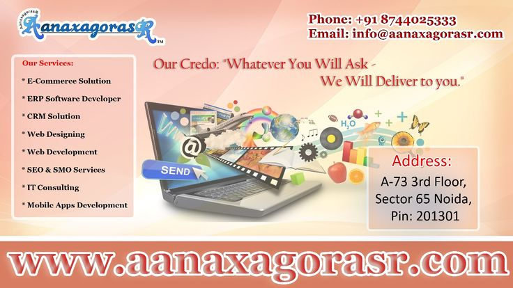 AanaxagorasR provides with the quality web designing services in order to flourish you business with new and attractive look to reach your targeted audiences in the way you want Plan your website with us
