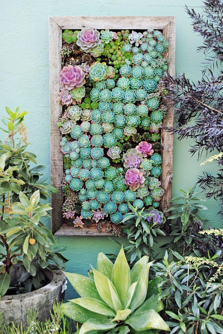 Vertical garden design with orchids space saving backyard landscaping - 26 Creative Ways To Plant A Vertical Garden Blank Wallsoutdoor Projectsoutdoor Ideasgarden