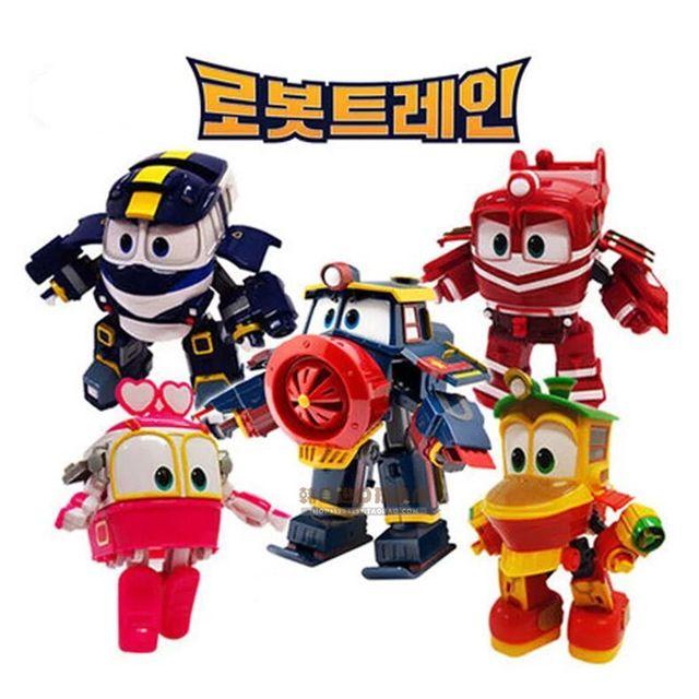 NEW hot 4 pçs/set 8 cm Trens Robô Transformação Kay Alf Dinâmica Trem Deformação Trem action figure brinquedos Do Carro Da Família boneca de brinquedo