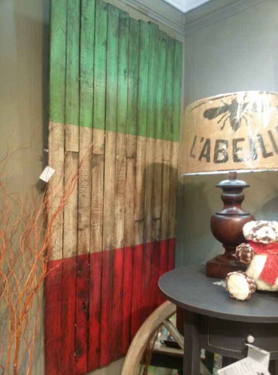 Rustic Distressed Italian Flag made of by TheDecorativeCompany, $125.00