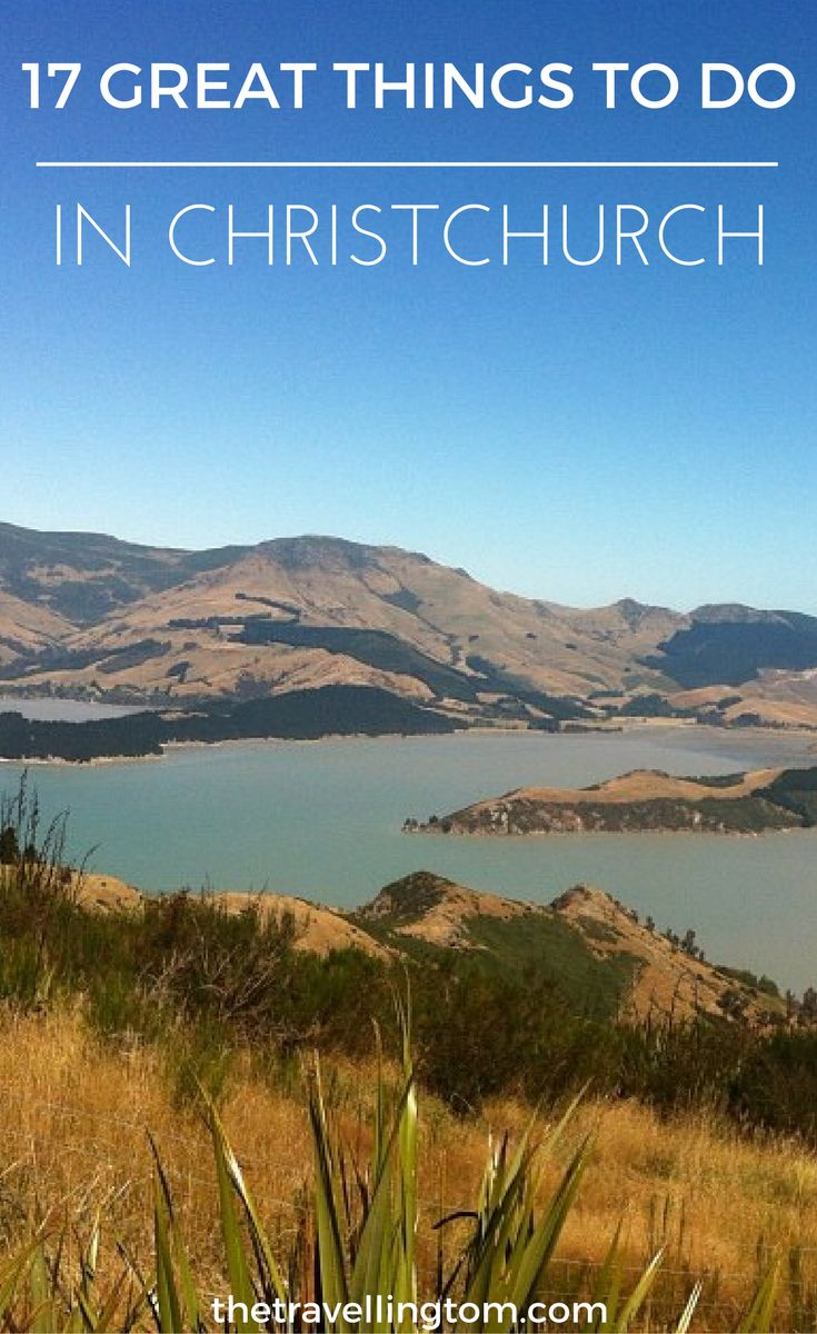There are plenty of great things to do in Christchurch. It's a beautiful city and you have to visit Lyttleton and Port Hills. There are plenty of other great places to visit in Christchurch as well. Don't visit New Zealand without going to Christchurch!