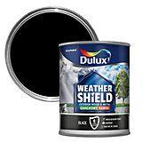Dulux Weathershield Exterior Black Gloss Wood & Metal Paint 750ml | Departments | DIY at B&Q