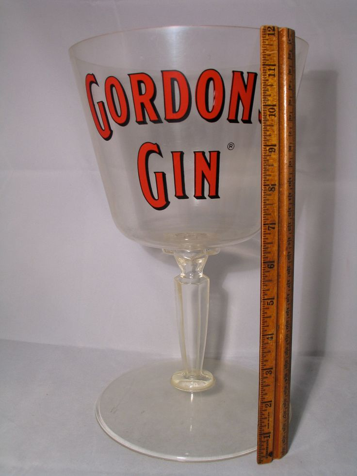 "Mid Century Modern Cocktail Advertising Sign Gordon's Gin 12"" tall Vintage Bar Top Decor, Mid Century Barware by Itzvintagedarling on Etsy"