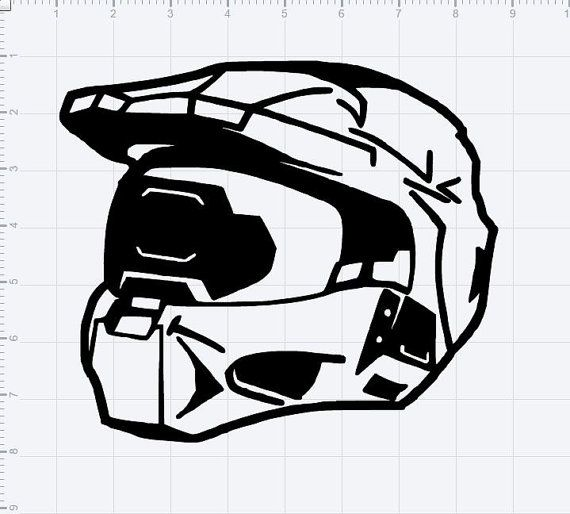 Halo Series Master Chief Helmet Decal
