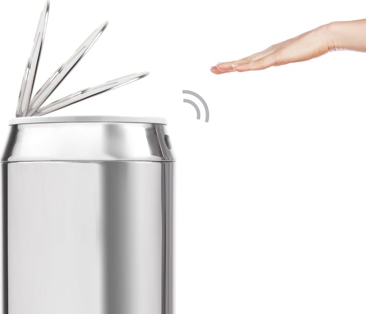 Sensé Can Touch-Free Bin 42L, Stainless Steel from Made.com. Metallic. Express delivery. With touch free sensors for clever waste disposal - simply ..