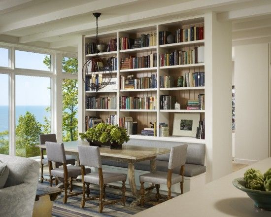 I am experiencing book-shelf envy, here....and that view!!  Home Design, Pictures, Remodel, Decor and Ideas - page 6