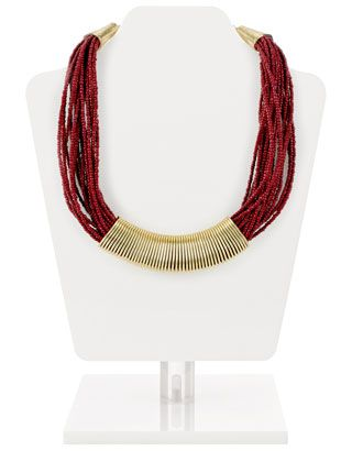Seed Bead Collar Necklace