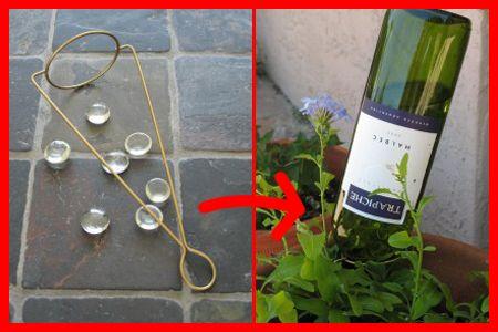 Homemade Drip Plant Waterer