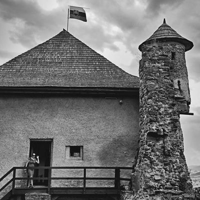 bwstock.photography - photo | free download black and white photos  //  #castle #tower #StaraLubovna