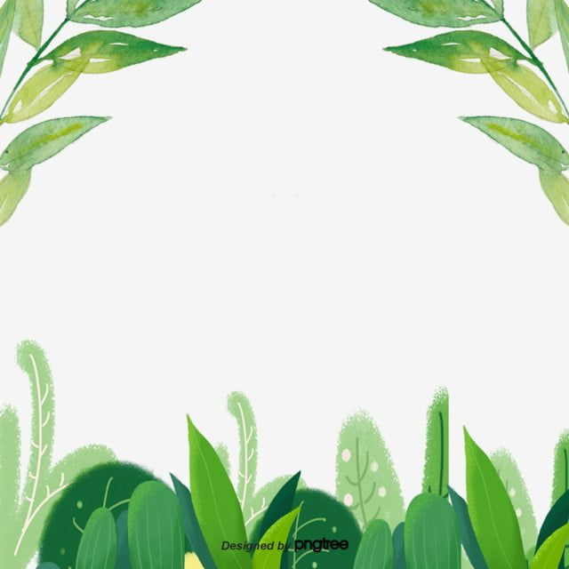 Green Flower And Grass Leaf Decorative Border Grass Cartoon Plant Png Transparent Clipart Image And Psd File For Free Download Flower Clipart Green Flowers Leaf Clipart