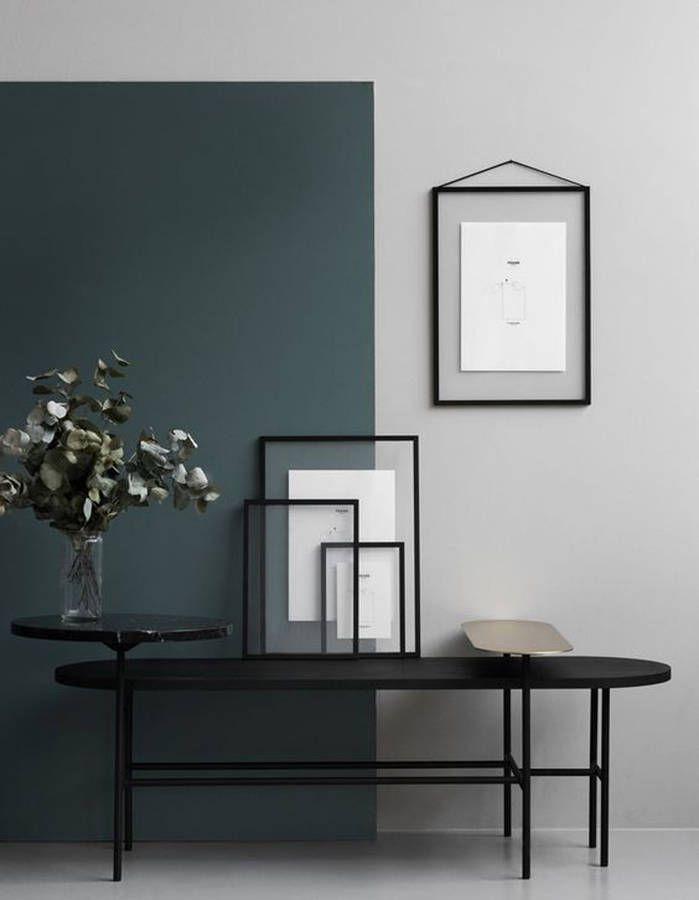 Un jeu de lignes entre peinture, déco et mobilier