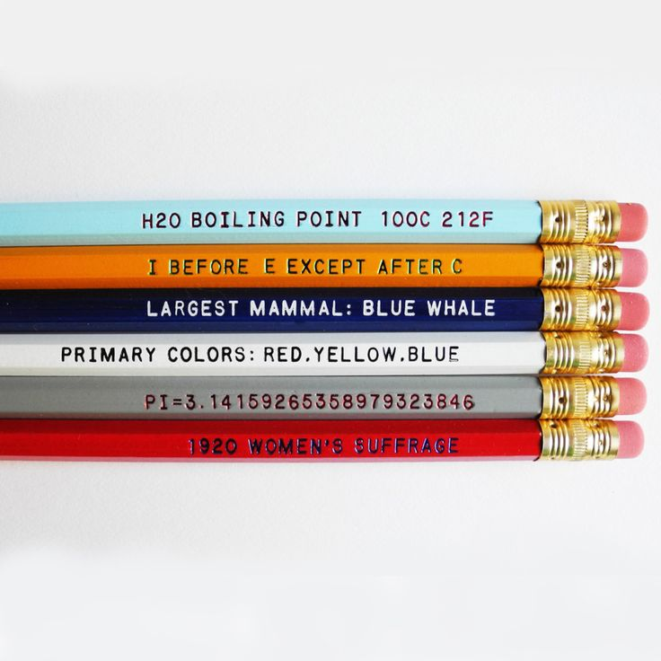 printed pencils