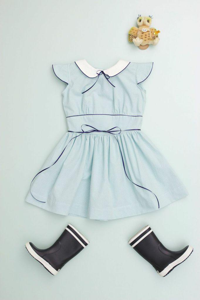 Baby dress inspiration. Gorgeous blue, vintage inspired dress from flora and henri. #babyfashion