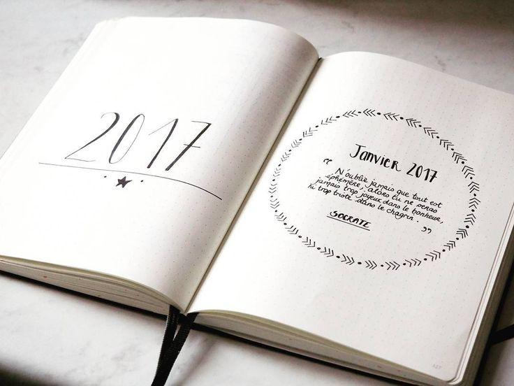 Commencer l'année avec une belle citation de Socrate dans mon Bullet Journal ! Créer en s'organisant et s'organiser pour créer ! http://creeretc.com