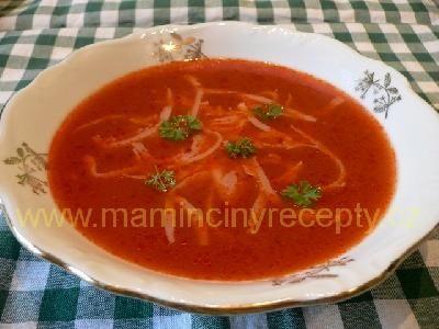 Rajská polévka se sýrem