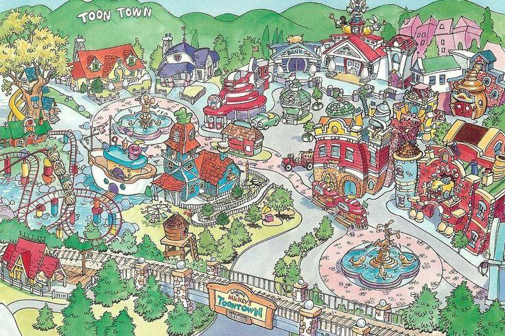 Toontown Disneyland Walt Disney Imagineering Concept