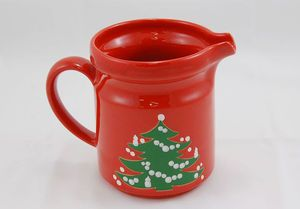 Waechtersbach CHRISTMAS TREE Pitcher 5.625 in. Green Tree Candles Red Germany. Over 10000 items & 36 best CHRISTMAS DISHES images on Pinterest | Christmas dinnerware ...