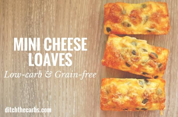 The gold standard in keto bread. Coconut flour mini cheese loaves - only 1.3g net carbs. Imagine these served warm with melted butter - cheesey heaven.