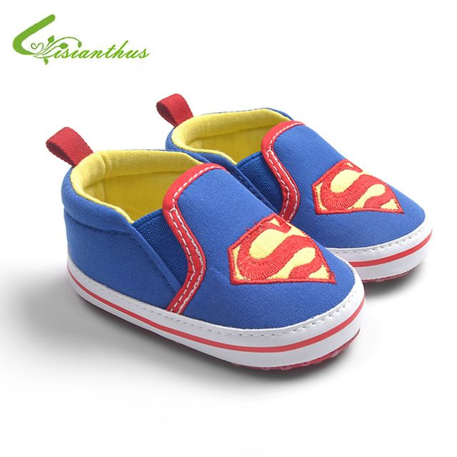 Babyschuhe Superman Supergirl Batman Slip-on Sneakers Kleinkinder Weiche Sohle Lauflernschuhe Jungen Mädchen Schuhe Tropfen Kostenloser Versand
