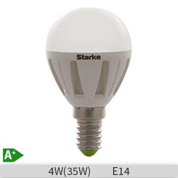Bec LED lustra STARKE 4W, P45, E14, 30000 ore, lumina calda