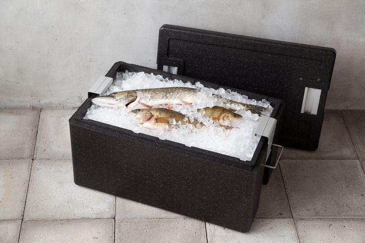 Eskimo säilytyslaatikko pitää kylmät elintarvikkeet kylmänä ja kuumat kuumana.