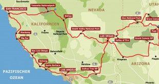 Routenbeispiel USA Westen