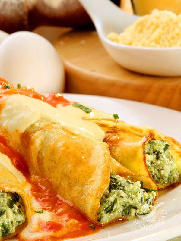 Cannelloni al nasello in salsa di pomodoro - Primi / Pasta Pasta al forno