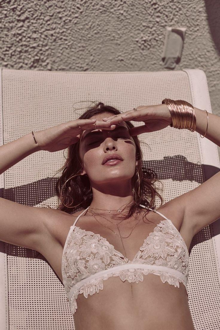 FOR LOVE & LEMONS - Valencia Bikini Top - White