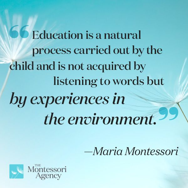 maria montessori natural laws of development The montessori philosophy in action in our classrooms  to learn according to  the natural laws of growth and development as outlined by dr maria montessori.