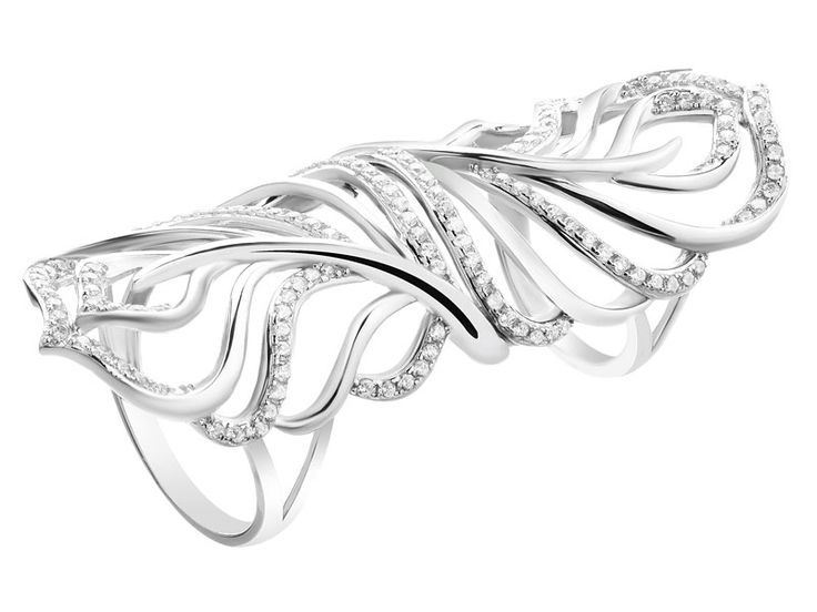 Pierścionek srebrny z cyrkoniami - wzór AP124-0383 / Apart