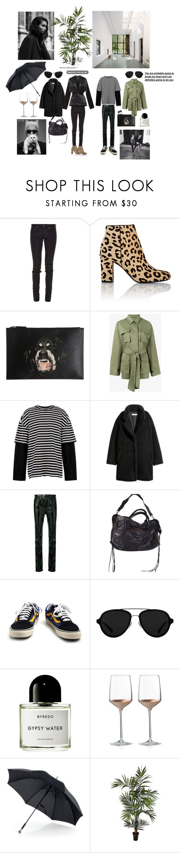 """""""Untitled #238"""" by fashiondisguise on Polyvore featuring Yves Saint Laurent, Givenchy, Ganni, Juun.j, Balenciaga, Vans, 3.1 Phillip Lim, Lagerfeld, Byredo and Wedgwood"""