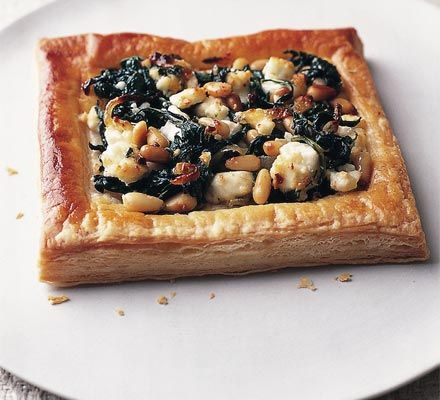 Spinach, pine nut and feta pastries