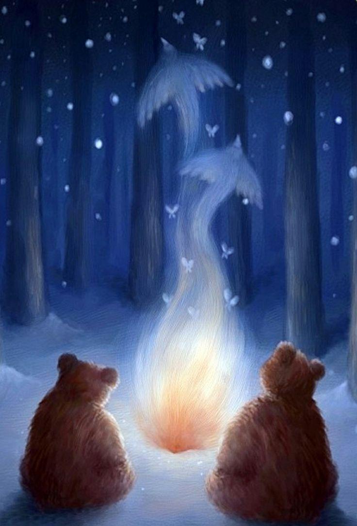 Текстом для, спокойной ночи смешные зимняя ночь картинки