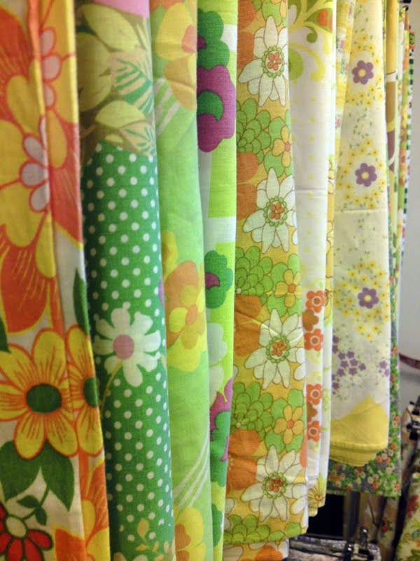 I love vintage fabric sometimes I dont even want to make anything from it . I just love looking at it