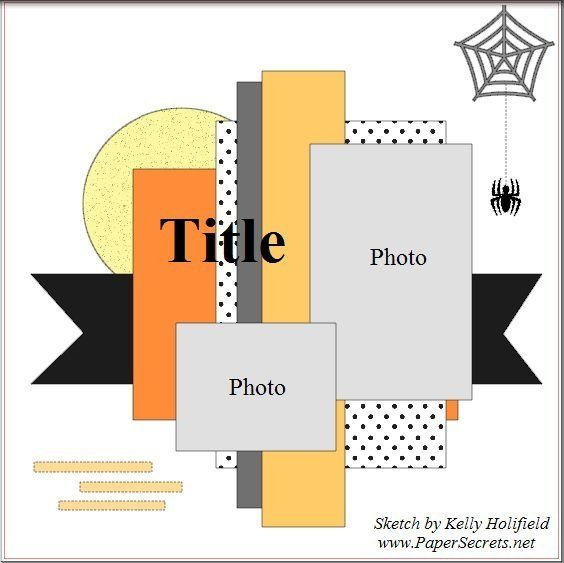 Freebie | Sketch for Halloween Scrapbook Layouts – Scrap Booking