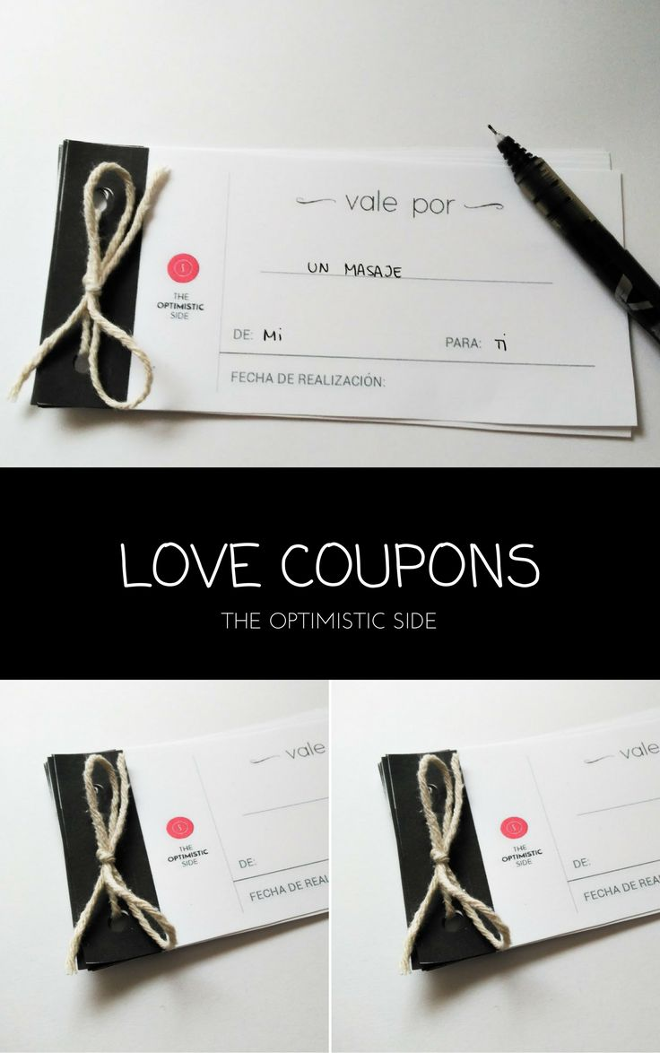 ideas about Love Coupons on Pinterest   Boyfriend coupons     Regalo para para pareja en cumplea  os o aniversario  novio  novia  esposo  esposa