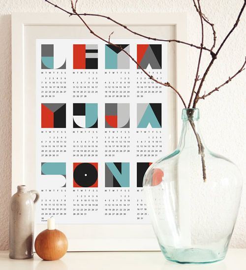 60 Unique 2013 Calendar Designs via Hongkiat.com
