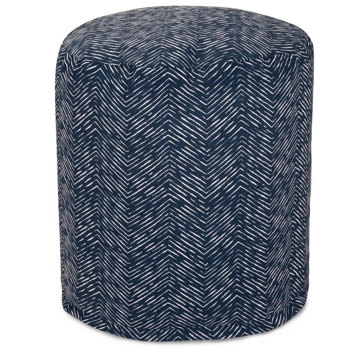 Southwestern Pouf Outdoor Indoor by Majestic Home Goods (Teal Navajo Small Pouf), Green (Polyester)