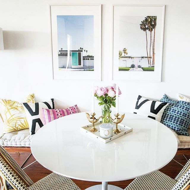 We love the pops of color in our director of design shelby gs dining room home designinterior
