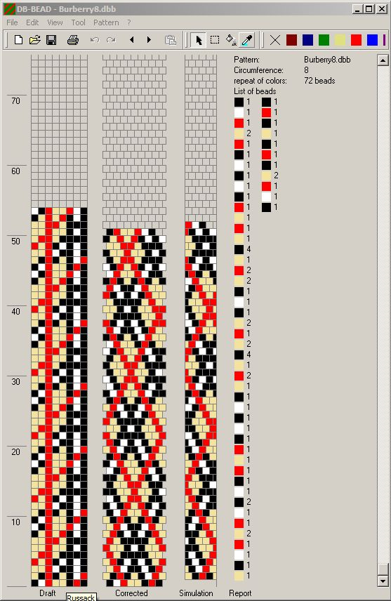 Plaid Design for Rope Necklace