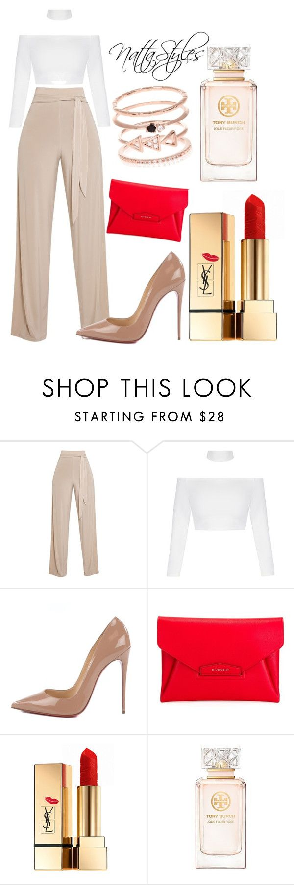"""Red Vogue"" by nattaca on Polyvore featuring Christian Louboutin, Givenchy, Yves Saint Laurent, Tory Burch and Accessorize"