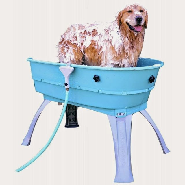 Creative Dog Products and Gadgets (15) — Elevated dog bath