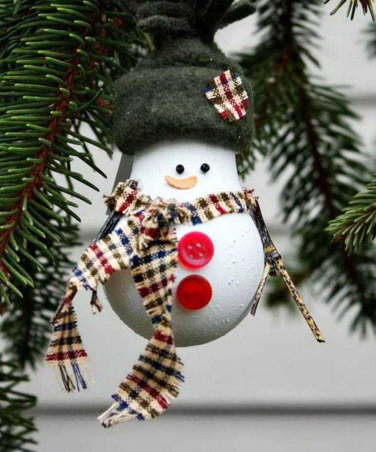 Glühbirnen zu Weihnachten bemalen