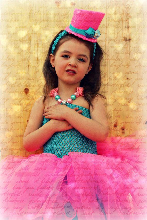 Gorgeous hot pink and aqua tutu by Mybebechic on Etsy