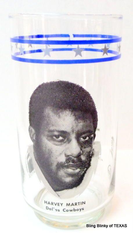 #HarveyMartin #BurgerKing #DrPepper NFL GLASS Those #1970s #DallasCowboys Number #79