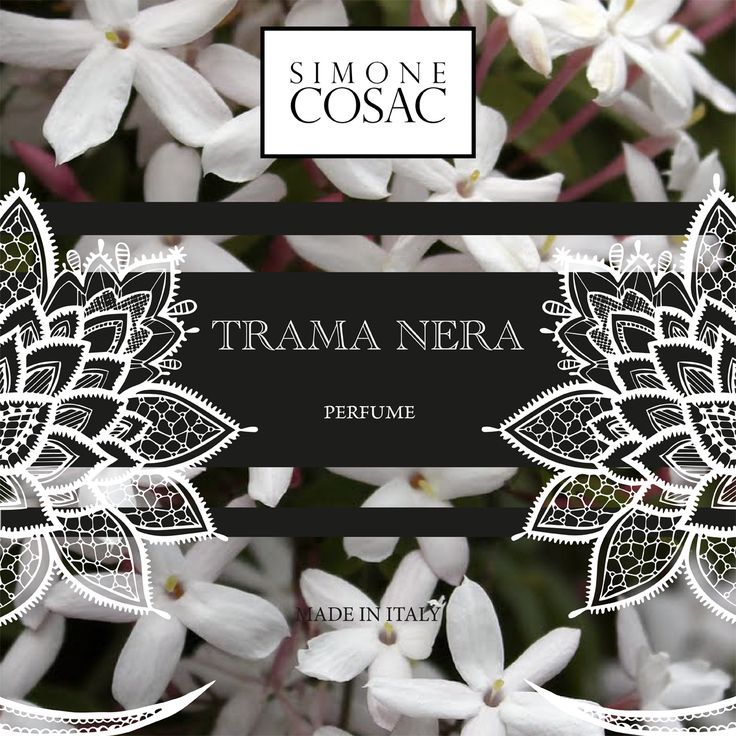TRAMA NERA one of the new Perfumes of Simone Cosac.