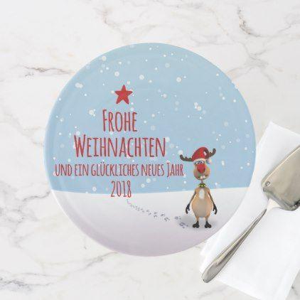 witzig lustig rentier weihnachtsbaum 2018 cake stand. Black Bedroom Furniture Sets. Home Design Ideas