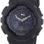 Montre Homme – G-Shock – GA-100-1A1ER: Montre pour Homme à mouvement Quartz - Bracelet en Résine Noir Type d'affichage : Analogique -…